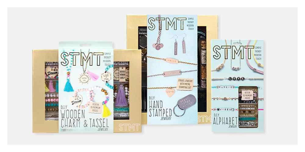 STMT Wooden Charm and Tassel Craft Kit, DIY Hand Stamped Metal Jewelry Kit - STMT, DIY Alphabet Jewelry Kit - STMT