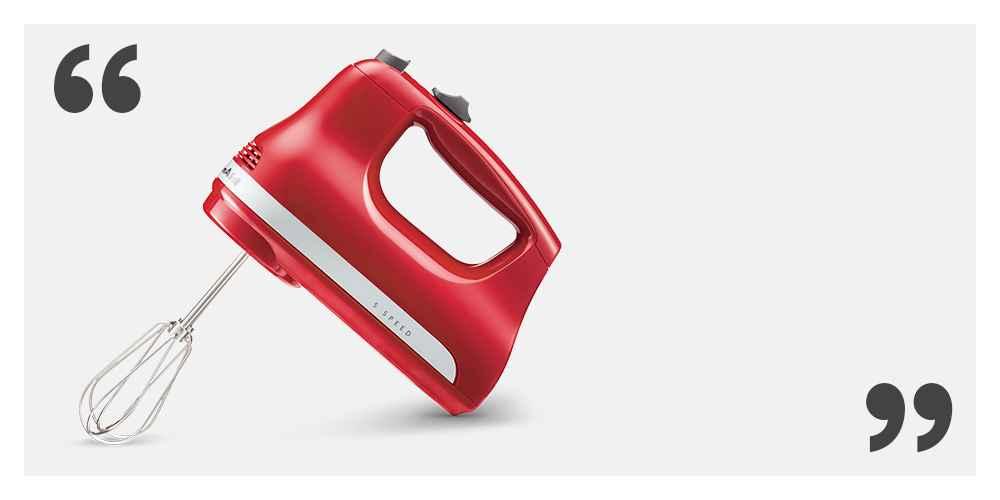 KitchenAid Ultra Power 5-Speed Hand Mixer KHM512 Empire Red