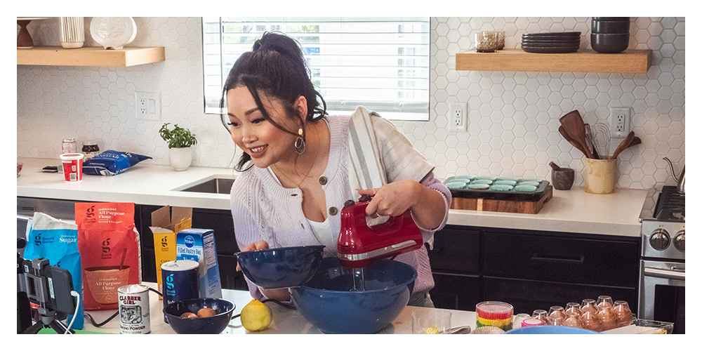 Women's Ombre Button-Down Cardigan - Universal Thread™ Light Purple XS, KitchenAid Ultra Power 5-Speed Hand Mixer KHM512 Empire Red, 5pc Plastic Mixing Bowl Set with Lids Blue - Made By Design™, Pillsbury Vanilla Flavored Filled Pastry Bag - 16oz, Granulated Sugar - 4lbs - Good & Gather™, Unbleached All Purpose Flour - 5lbs - Good & Gather™, Plain Salt - 26oz - Good & Gather™, Good Cook Nonstick 12 Cup Muffin Pan, Wilton Citrus Circles Standard Baking Cups - 150ct
