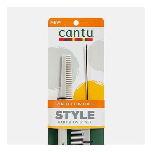 Cantu Style Part & Twist Comb Set - 2ct