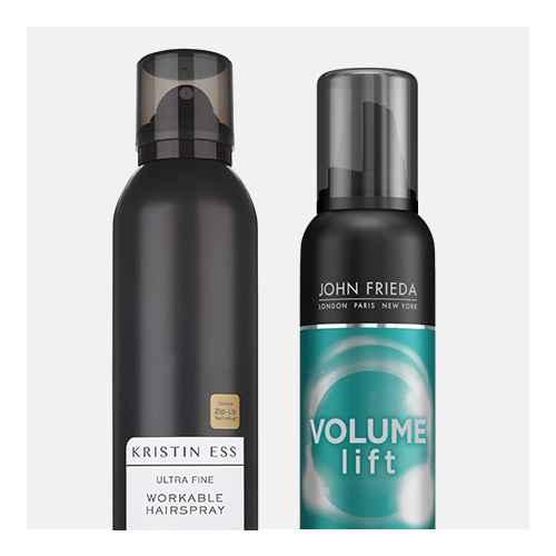 Kristin Ess Ultra Fine Workable Hairspray - 6.7oz, John Frieda Volume Lift Air Whipped Foam - 7.5oz