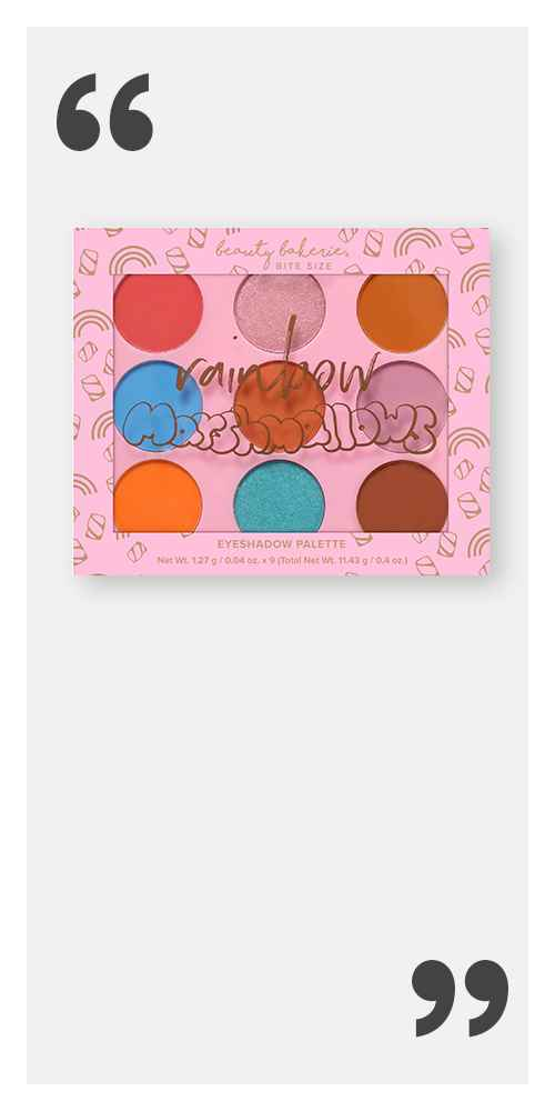 Beauty Bakerie Bite Size Eyeshadow Palette - Rainbow Marshmallows - 0.4oz, The Lip Bar Vegan Everyday Eyeshadow Palette - Brown Bombshell - 2.2oz, Pacifica Moonflower Otherworldly Eyeshadow Palette - 0.2oz, Maybelline City Mini Eyeshadow Palette - Chill Brunch Neutrals - 0.14oz