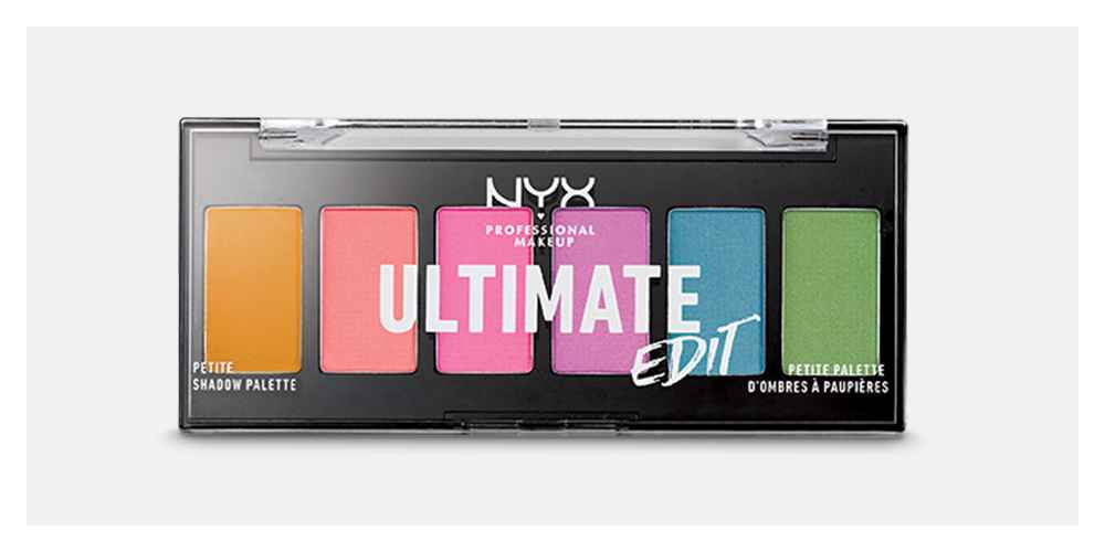 NYX Professional Makeup Ultimate Edit Mini Eyeshadow Palette Brights - 0.04oz