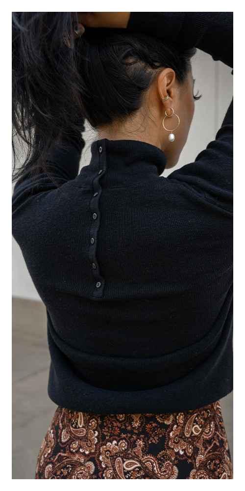 Women's Turtleneck Back Button Sweater - Nili Lotan x Target Black S, Women's Plus Size Turtleneck Back Button Sweater - Nili Lotan x Target Black 1X, Women's Paisley Print Slip Dress - Nili Lotan x Target Brown S, Women's Plus Size Paisley Print Slip Dress - Nili Lotan x Target Brown 1X