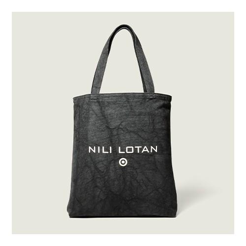 Printed Canvas Tote Handbag - Nili Lotan x Target Black