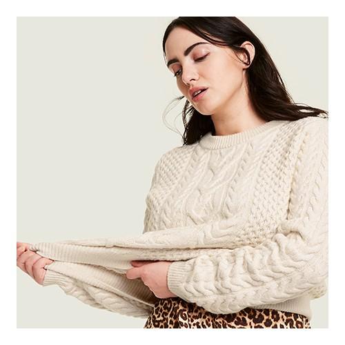 Women's Crewneck Pullover Sweater - Nili Lotan x Target Cream S, Women's Plus Size Crewneck Pullover Sweater - Nili Lotan x Target Cream 1X