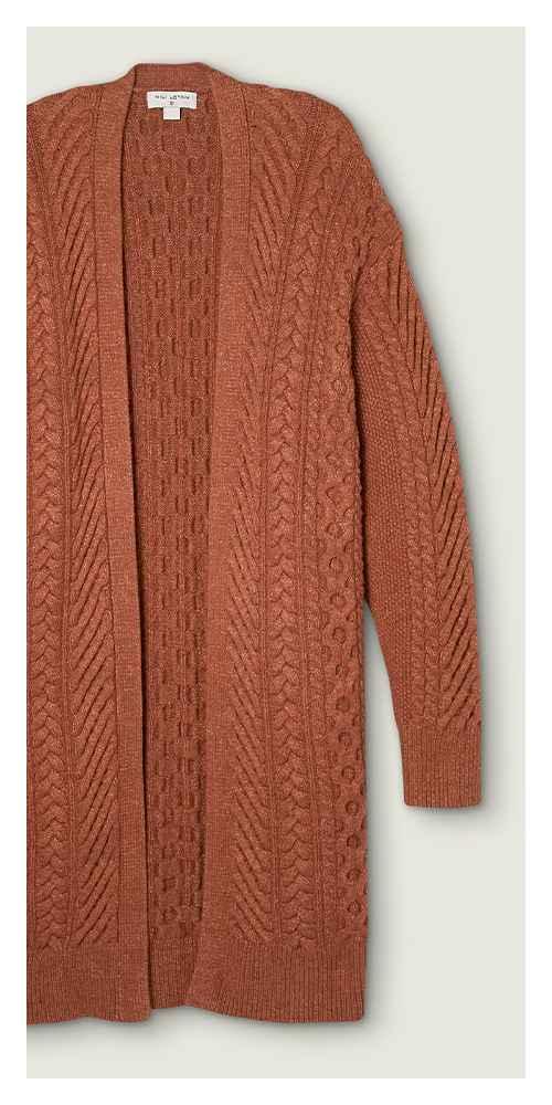 Women's Cableknit Cardigan - Nili Lotan x Target Brown S, Women's Plus Size Cableknit Cardigan - Nili Lotan x Target Brown 1X