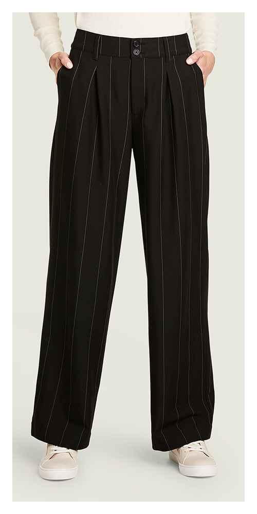 Women's Pinstripe High-Rise Wide Leg Trousers - Nili Lotan x Target Black 4, Women's Plus Size Pinstripe High-Rise Wide Leg Trousers - Nili Lotan x Target Black 16W/18W