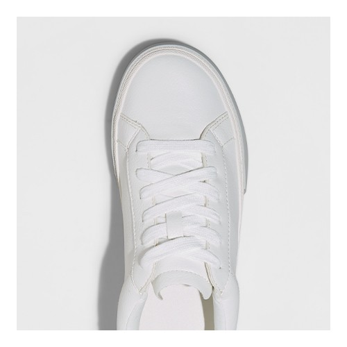 Women's Maddison Sneakers - A New Day™ White/Pink 6.5