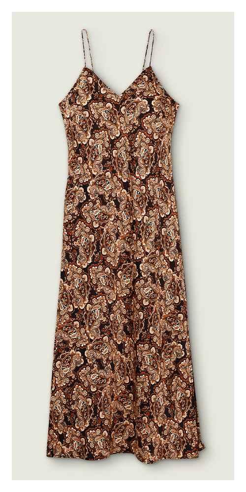 Women's Paisley Print Slip Dress - Nili Lotan x Target Brown S, Women's Plus Size Paisley Print Slip Dress - Nili Lotan x Target Brown 1X