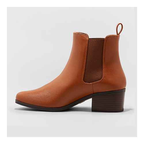 Women's Ellie Wide Width Chelsea Boots - A New Day™ Brown 5.5W
