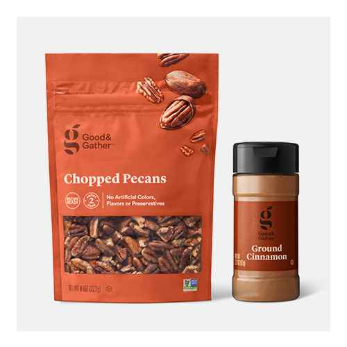Chopped Pecans - 8oz - Good & Gather™, Ground Cinnamon - 2.37oz - Good & Gather™