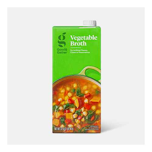 Vegetable Broth - 32oz - Good & Gather™, Organic Vegetable Broth - 32oz - Good & Gather™