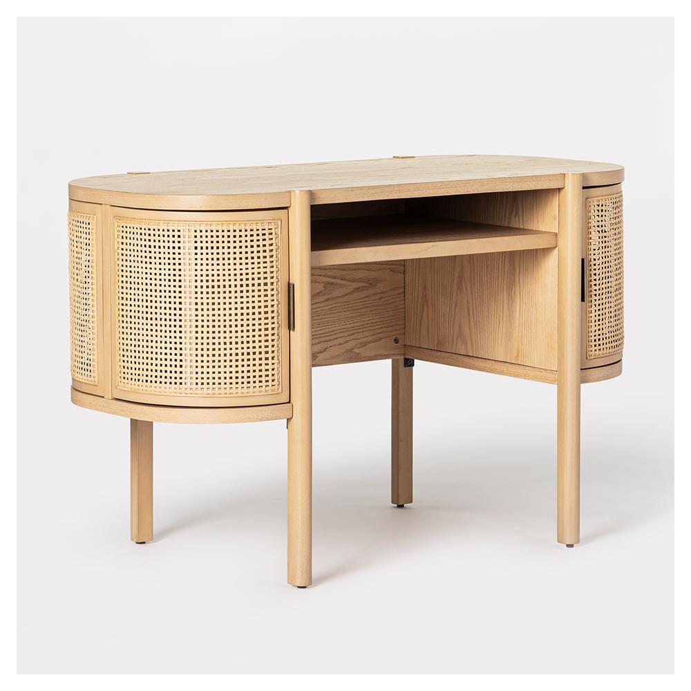 Portola Hills Caned Desk Natural - Threshold™ designed with Studio McGee