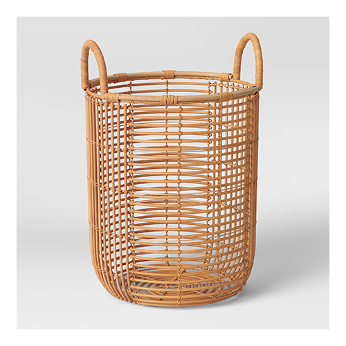 """11"""" x 15"""" Rattan Basket with Handle Natural - Opalhouse™"""