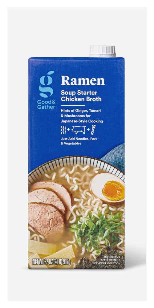 Ramen Soup Starter Chicken Broth - 32oz - Good & Gather™, Chicken Broth - 32oz - Good & Gather™, Vegetable Broth - 32oz - Good & Gather™
