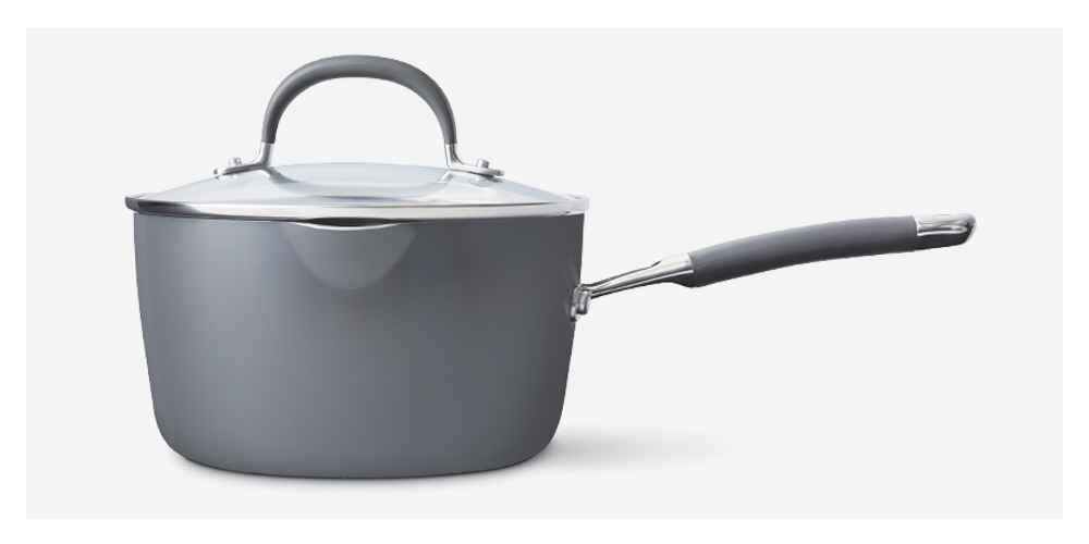Ceramic Coated Aluminum Covered Saucepan 3qt - Made By Design™