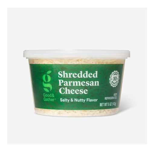 Shredded Parmesan Cheese - 5oz - Good & Gather™, Grated Parmesan Cheese Cup - 5oz - Good & Gather™, Finely Shredded Parmesan Cheese - 5oz - Good & Gather™, Grated Parmesan Cheese - 8oz - Market Pantry™