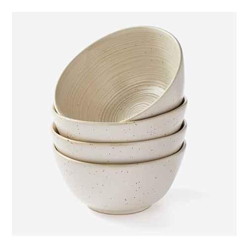 23oz 4pk Stoneware Glazed Salad Bowls Cream - Threshold™ designed with Studio McGee