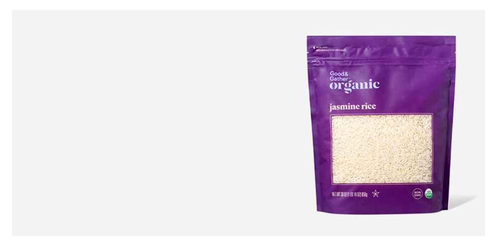 Organic Jasmine Rice - 30oz - Good & Gather™, 90 Second Jasmine Rice Microwavable Pouch - 8.5oz - Good & Gather™, 90 Second Whole Grain Blend with Brown Rice, Lentils & Quinoa - 8.8oz - Good & Gather™, 90 Second Basmati Rice Microwavable Pouch - 8.5oz - Good & Gather™
