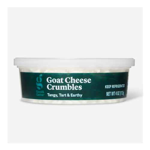 Goat Cheese Crumbles - 4oz - Good & Gather™, Goat Cheese Log - 8oz - Good & Gather™, Garlic & Herb Goat Cheese - 4oz - Good & Gather™, Double Cream Brie Soft Ripened Cheese Round - 8oz - Good & Gather™