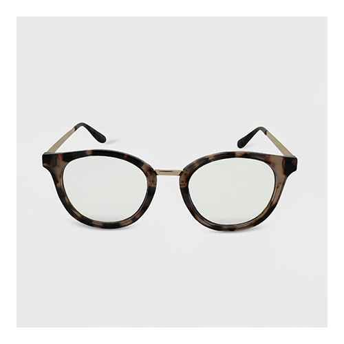 Women's Round Tortoise Print Blue Light Filtering Glasses - Wild Fable™ Brown