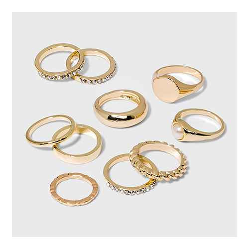 Signent Ring Set 10pc - Wild Fable™ Gold