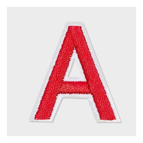 Bright Creations 82-Pack Red Alphabet Letter and Number Iron On Patches for Applique, Sewing (1 x 1.4 in)