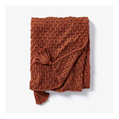 Chunky Knit Throw Blanket Rust - Threshold™ designed with Studio McGee