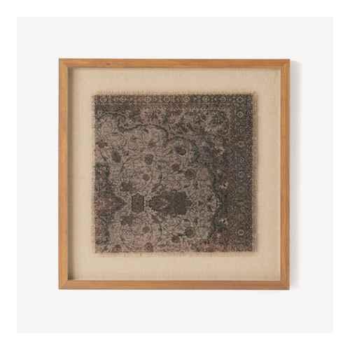 "18"" x 18"" Vintage Textile Framed Under Glass - Threshold™ designed with Studio McGee"