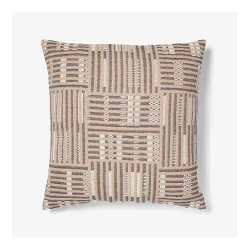 Oversized Cotton Gauze Matelasse Global Square Throw Pillow Black - Threshold™