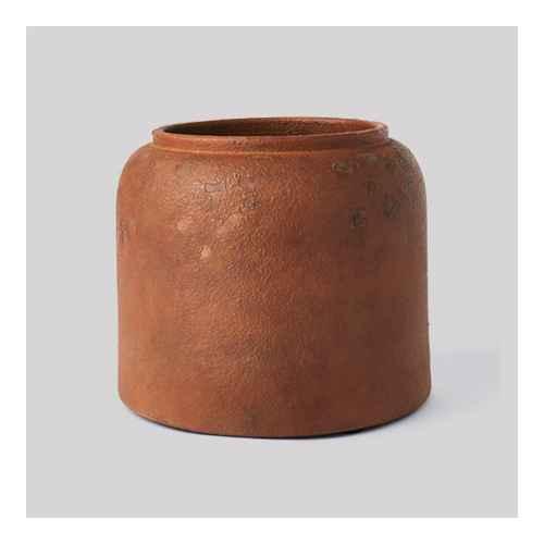 "8"" x 9.5"" Rustic Vase Brown - Threshold™ designed with Studio McGee"