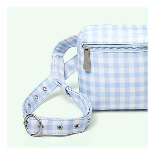 Gingham Zipper Belt Bag - Sandy Liang x Target White/Blue