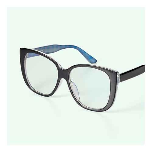 Women's Blue Light Filtering Cateye Glasses - Sandy Liang x Target Black