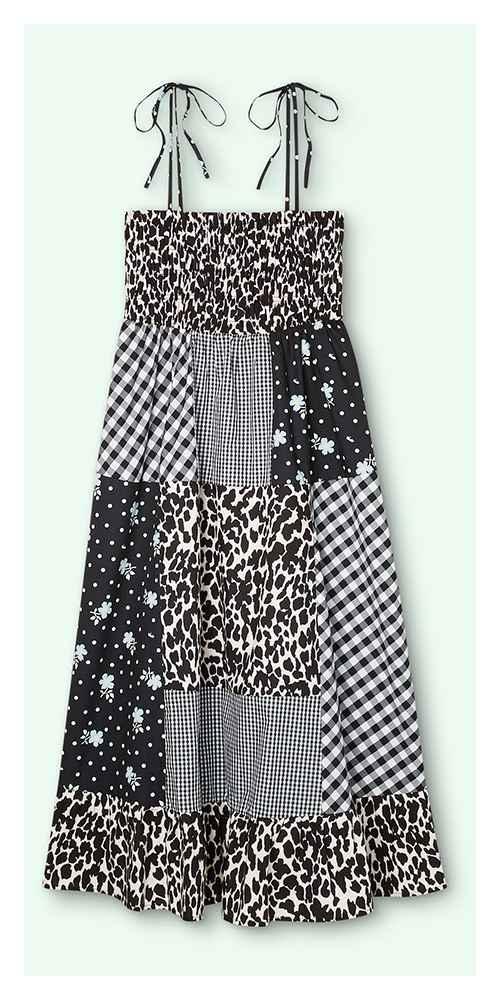 Women's Patchwork Sleeveless Dress - Sandy Liang x Target Black S, Women's Plus Size Patchwork Sleeveless Dress - Sandy Liang x Target Black 1X