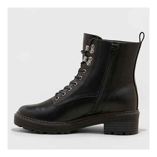 Women's Marta Wide Width Combat Boots - Universal Thread™ Black 6W