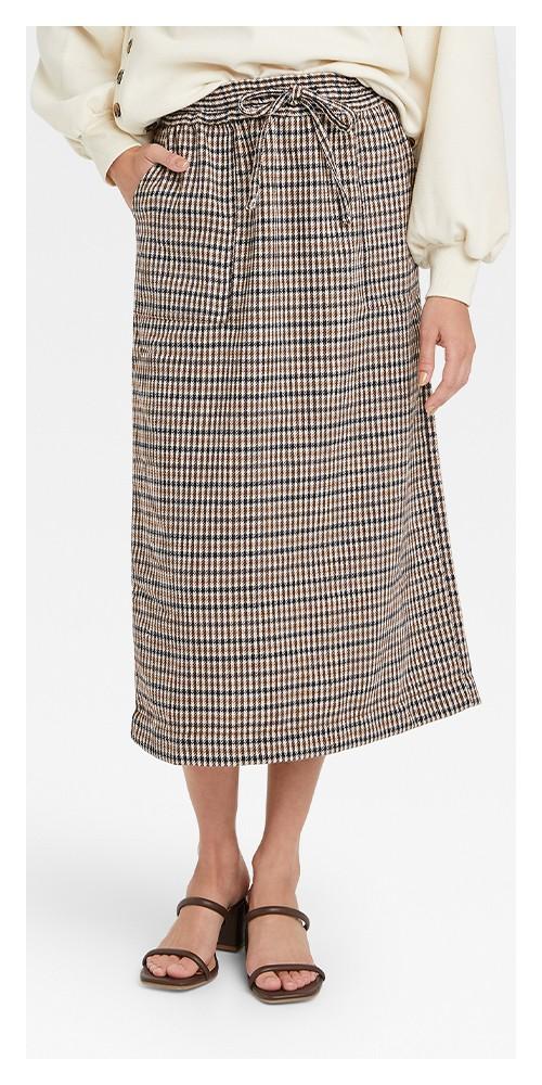 Women's Midi Pencil Skirt - Who What Wear™ Brown Plaid XL
