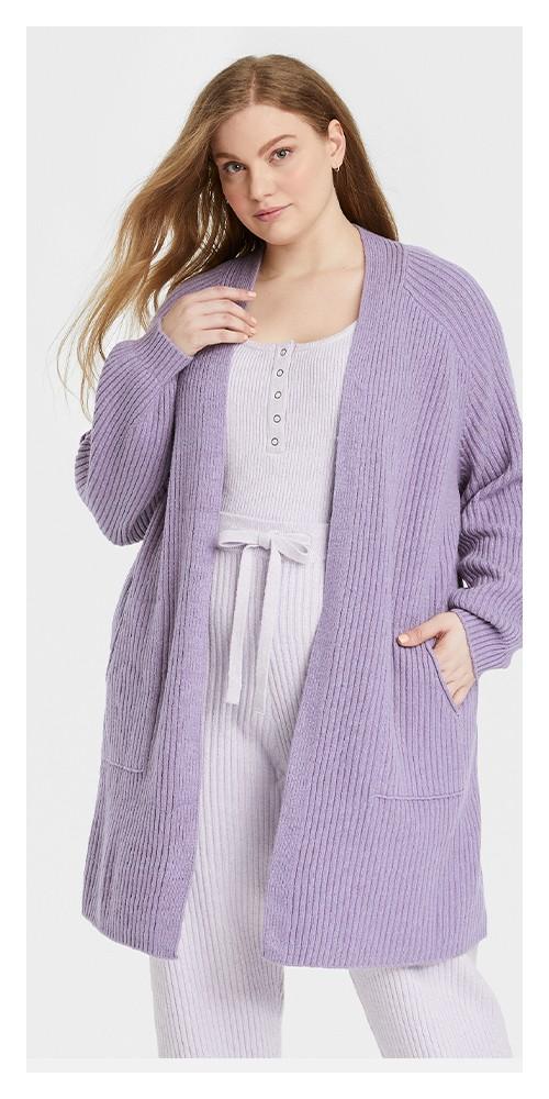 Women's Plus Size Duster Cardigan - Universal Thread™ Purple 1X
