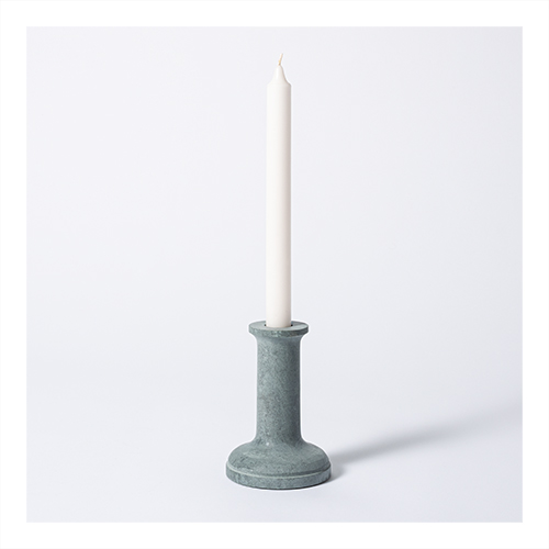 """5"""" x 3.5"""" Soapstone Taper Candle Holder Gray - Threshold™ designed with Studio McGee"""