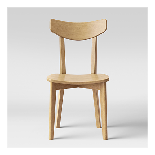 2pk Astrid Mid-Century Dining Chairs Wood Seat Natural - Project 62™