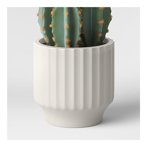 """4"""" Earthenware Geared Planter White - Project 62™"""