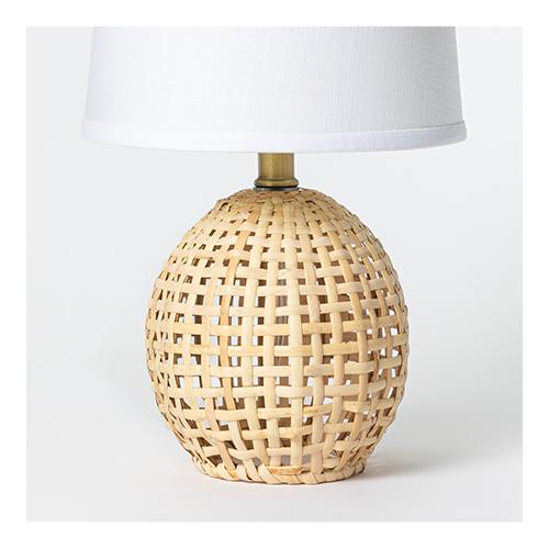 Round Rattan Accent Lamp Brown - Threshold™