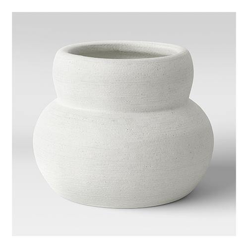 Round Textured Ceramic Vase White - Project 62™