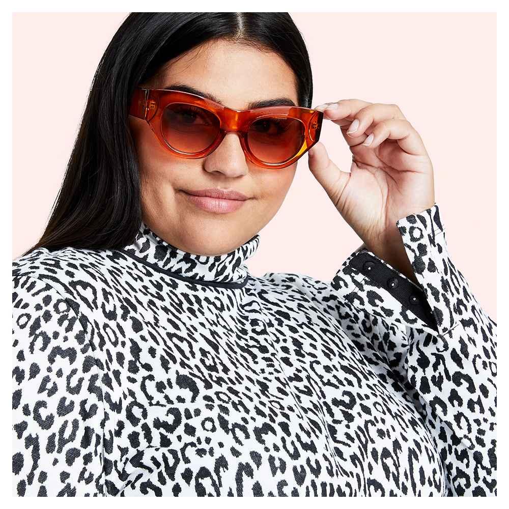 Women's Leopard Print Long Sleeve Turtleneck T-Shirt - Victor Glemaud x Target Black S, Women's Plus Size Leopard Print Long Sleeve Turtleneck T-Shirt - Victor Glemaud x Target Black 1X, Women's Round Cateye Sunglasses - Victor Glemaud x Target Orange