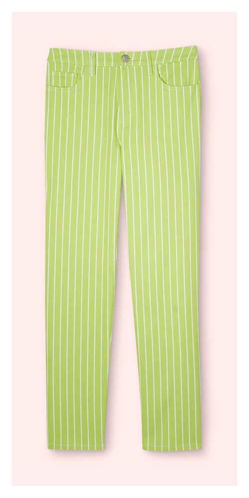 Women's Pinstripe High-Rise Straight Leg Jeans - Victor Glemaud x Target Lime Green 4, Women's Plus Size Pinstripe High-Rise Straight Leg Jeans - Victor Glemaud x Target Lime Green 16W/18W