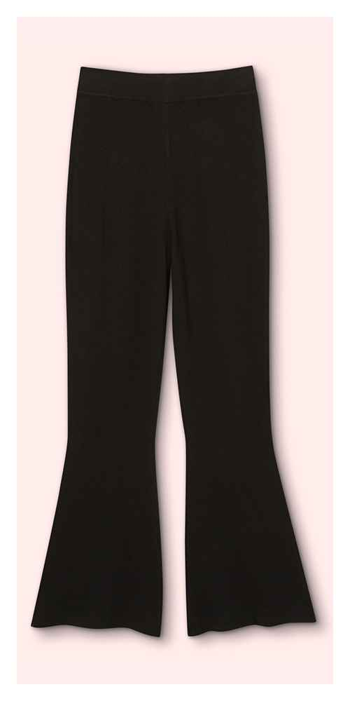 Women's High-Rise Flare Sweater Pants - Victor Glemaud x Target Black S, Women's Plus Size High-Rise Flare Sweater Pants - Victor Glemaud x Target Black 1X