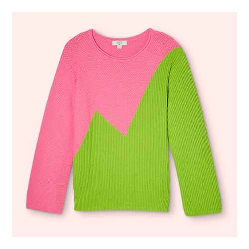 Women's Crewneck Pullover Sweater - Victor Glemaud x Target Pink/Green S, Women's Plus Size Crewneck Pullover Sweater - Victor Glemaud x Target Pink/Green 1X