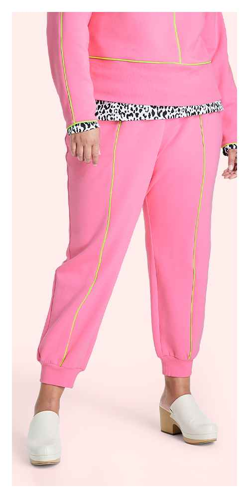 Women's Cropped Pullover Sweatshirt - Victor Glemaud x Target Pink S, Women's Plus Size Cropped Pullover Sweatshirt - Victor Glemaud x Target Pink 1X, Women's High-Rise Jogger Pants - Victor Glemaud x Target Pink S, Women's Plus Size High-Rise Jogger Pants - Victor Glemaud x Target Pink 1X