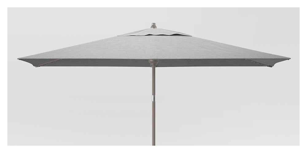10' Rectangular Patio Umbrella DuraSeason Fabric™ Pebble - Ash Pole - Project 62™