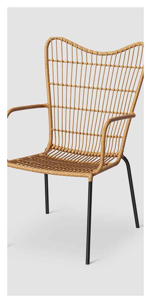 Wingback Patio Accent Chair - Natural - Opalhouse™